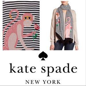New! Kate Spade New York Monkey Wrap Scarf